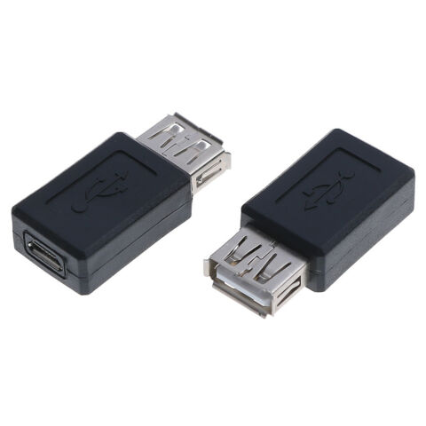 1PC USB 2 0 A FEMALE TO MICRO USB 5 PIN FEMALE DATA ADAPTER CONVERTOR ZJP