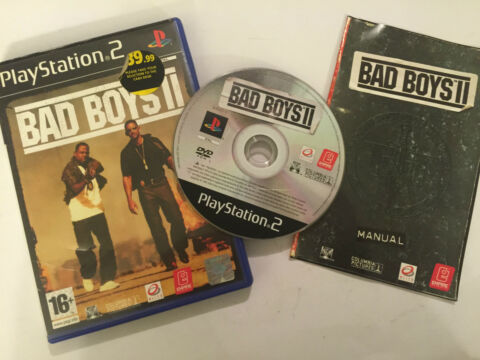 PAL PLAYSTATION 2 PS2 GAME BAD BOYS II 2 BOX INSTRUCTIONS COMPLETE