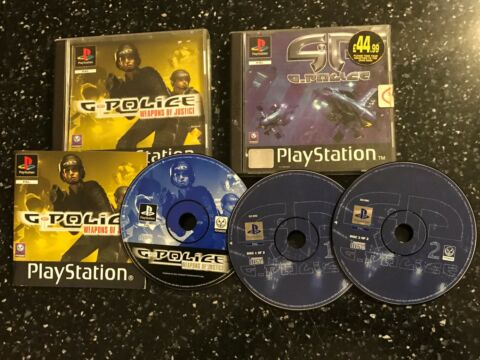 2X PLAYSTATION 1 PS1 PSONE GAMES G POLICE 1 2 WEAPONS OF JUSTICE PAL