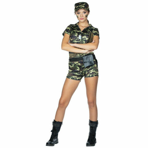 CAMOUFLAGE ARMEE OUTFIT ARMY DAMEN KOST M ARMY GIRL SOLDATIN