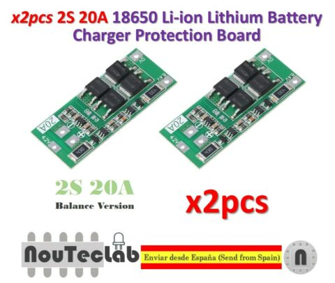 2PCS 2S 20A 7 4V 8 4V 18650 LITHIUM BATTERY PROTECTION BOARD BMS BALANCE VERSION