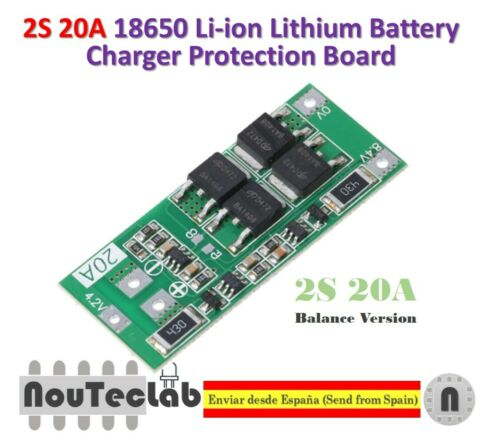 2S 20A 7 4V 8 4V 18650 LITHIUM BATTERY PROTECTION BOARD BMS BALANCE VERSION
