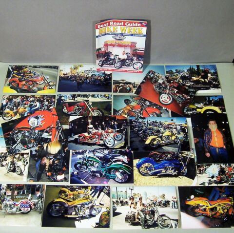 22 ORIG PHOTOGRAPHS BIKE WEEK 1999 DAYTONA HARLEY DAVIDSON BIKER MOTORCYCLES