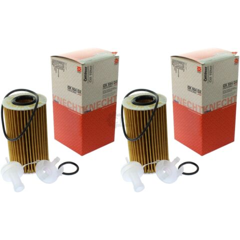 2X MAHLE KNECHT OX 554D2 LFILTER OELFILTER OIL FILTER