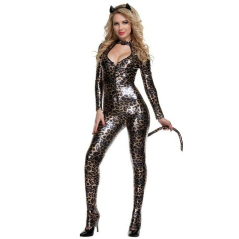 SEXY CLUBWEAR CATSUIT WETLOOK BODYSUIT LACK LEDER DESIGN 8040734