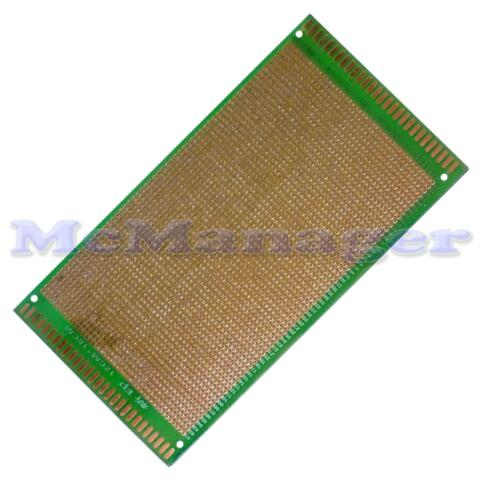 DRILLED SINGLE SIDED COPPER PROTOTYPE PCB MATRIX EPOXY GLASS FIBRE BOARD 120X180
