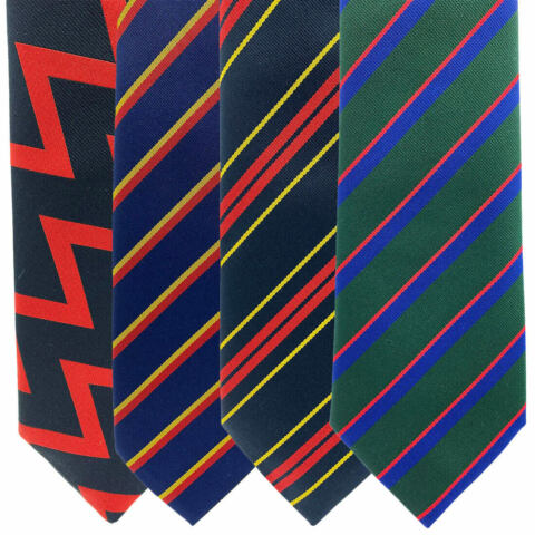 REGIMENTAL MILITARY TIES ARTILLERY REME RLC ROYAL IRISH BRITISH ARMY UNIFORM