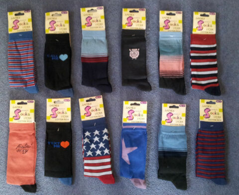 NEW LADIES SOCKS SIZE 4 7 RANGE OF COLOURS AND DESIGNS TEXT ME SEXY ETC