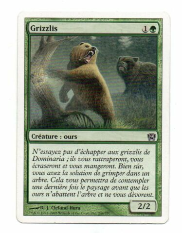 MAGIC NR 246 350 GRIZZLYS 3458