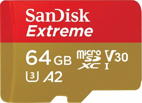 SANDISK EXTREME A2 MICROSD 160MB S LESEN 60MB S SCHREIBEN 64GB MEMORY CARD ST GR