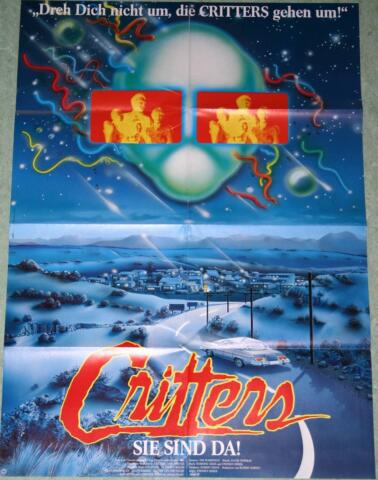 FILMPOSTER CRITTERS DEE WALLACE STONE 1986 GERMAN STYLE MOVIE POSTER