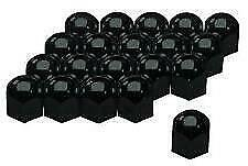 17MM BLACK STAINLESS STEEL WHEEL NUT COVERS FITS BMW X3