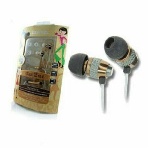 CLIPTEC METALICA TALK2ME BME717 IN EAR HEADPHONES WITH CABLE WRAP GOLD