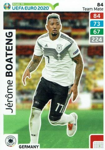 PANINI ADRENALYN XL ROAD TO EURO 2020 TEAM MATE NR 84 JEROME BOATENG