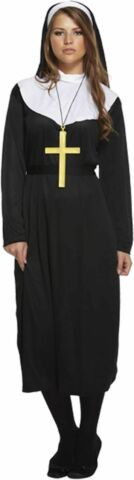 ADULT FEMALE NUN FANCY DRESS DRESSING UP OUTFIT COSTUME HEN DO NEW5026619003046