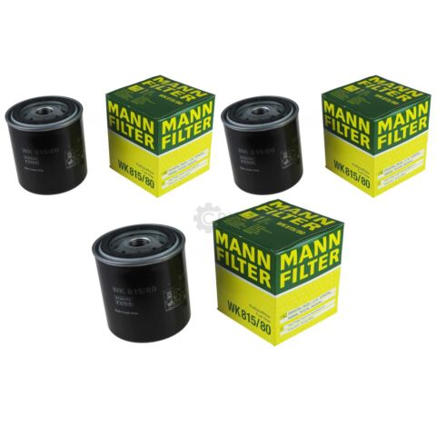3X ORIGINAL MANN FILTER KRAFTSTOFFFILTER WK 815 80 FUEL FILTER