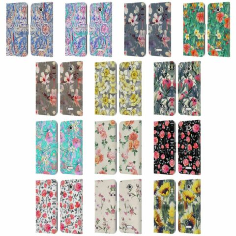 OFFICIAL MICKLYN LE FEUVRE FLORALS LEATHER BOOK WALLET CASE FOR SONY PHONES 2