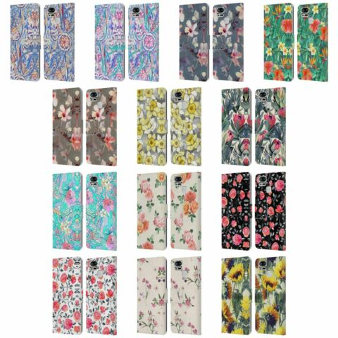 OFFICIAL MICKLYN LE FEUVRE FLORALS LEATHER BOOK CASE FOR ASUS ZENFONE PHONES