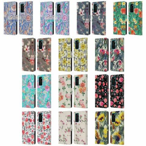OFFICIAL MICKLYN LE FEUVRE FLORALS LEATHER BOOK WALLET CASE FOR HUAWEI PHONES