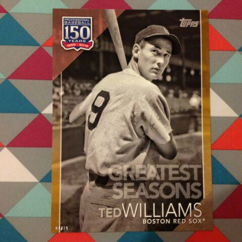 124 TED WILLIAMS ROT SOX 5X7 10 MADE GOLD 2019 TOPPS 150 YEARS OF