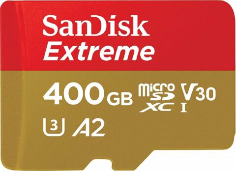 SANDISK EXTREME MICRO SD 160MB S LESEN 90MB S SCHREIBEN 400GB MEMORY CARD ST GR