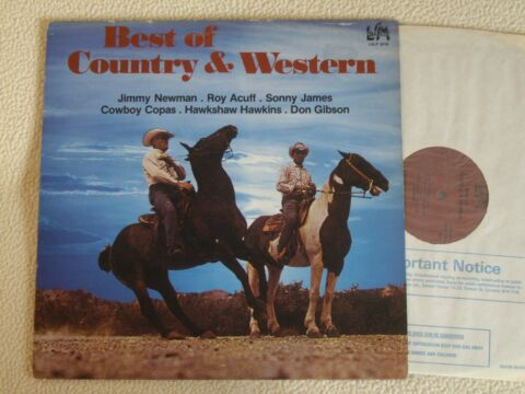 V A BEST OF COUNTRY WESTERN HITS LP JIMMY DEAN SONNY JAMES COWBOY COPAS