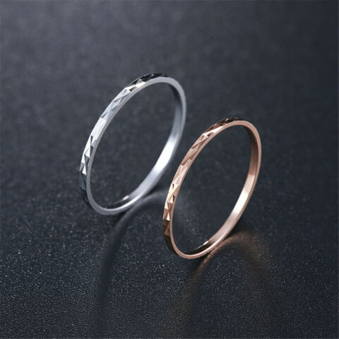 RING 1 MM SUPERFEIN S925 STERLING SILBER RING MODE KLEIDUNG ACCESSOIRES SCHMUCK
