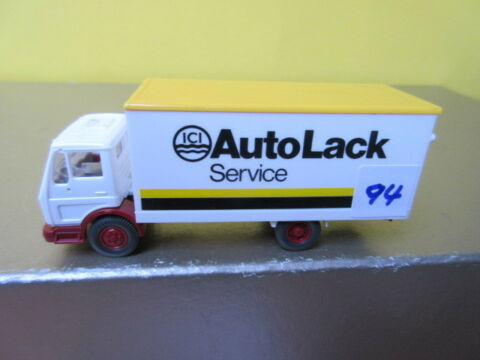WIKING H0 436 MERCEDES 1017 KOFFER AUTO LACK SERVICE 94