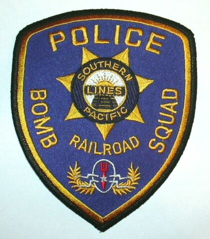 USA SOUTHERN PACIFIC EISENBAHNEN EOD POLIZEI AUFN HER PATCH POLICE US