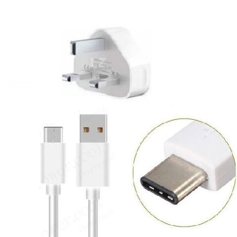 UK MAINS CHARGER POWER PLUG TYPE C DATA SYNC CABLE FIT MOTOROLA G7 POWER G7 PLUS