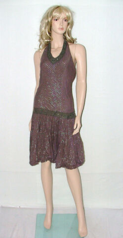 TAMMY GIRL BROWN EVENING DRESS LADIES SIZE 12 OR GIRLS 176CM PARTY FROCK