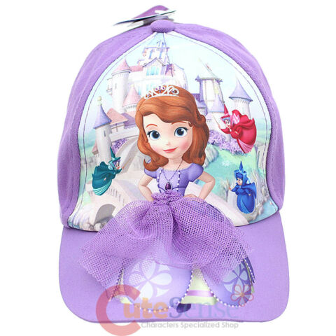DISNEY SOFIA THE FIRST KINDER HUT BASEBALL KAPPE MIT 3D LILA NETZKLEID BAUMWOLLE