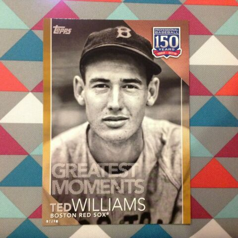 32 TED WILLIAMS ROT SOX 5X7 10 MADE GOLD 2019 TOPPS 150 YEARS OF GREATEST