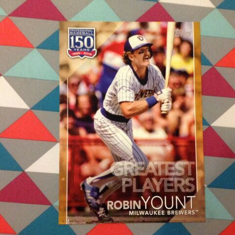 55 ROBIN YOUNT BRAUER 5X7 10 MADE GOLD 2019 TOPPS 150 YEARS OF GREATEST