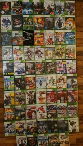 XBOX 360 SPIELE ASSASSINS CREED NEED FOR SPEED TOMB RAIDER WRC