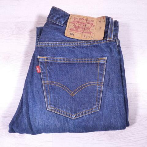 MENS DARK BLUE INDIGO LEVI 501 W31 L34 VINTAGE RED TAB DENIM JEANS 501S E2192