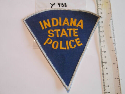 POLIZEI USA PATCH US STATE POLICE INDIANA Y498