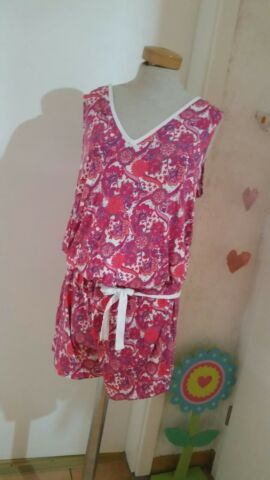 S OLIVER OVERALL GR L NIGHTWEAR PINK PARSLEYMUSTER JUMPSUIT CATSUIT JUMPSUIT