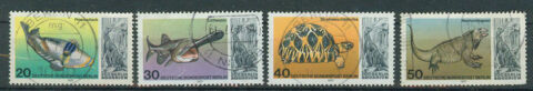 BERLIN WEST BRIEFMARKEN 1977 BERLINER AQUARIUM MI 552 BIS 555 GESTEMPELT