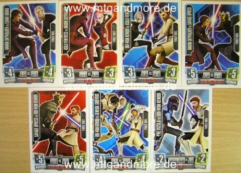 STAR WARS FORCE ATTAX SERIE 2 FORCE DUEL 171 177