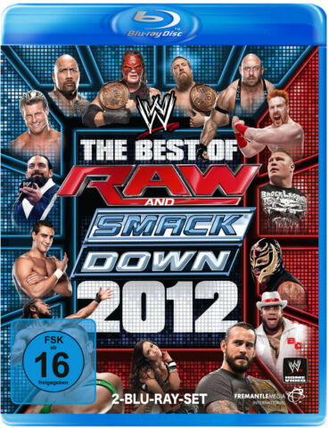 WWE THE BEST OF MONDAY NIGHT RAW AND SMACKDOWN 2012 2X BLU RAY DEUTSCHE VERSION