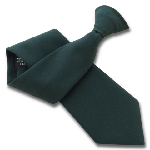 MATT BOTTLE GREEN SECURITY GUARD OR BOUNCER CLIPPER CLIP ON SNAPPER UNIFORM TIE