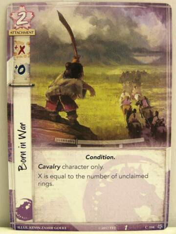 LEGEND OF THE FIVE RINGS LCG 1X 194 BORN IN WAR BASE SET