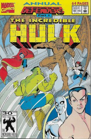 THE INCREDIBLE HULK ANNUAL NO 18 1992 THE RETURN OF THE DEFENDERS PART 1