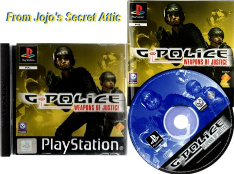 33 33 OFF G POLICE WEAPONS OF JUSTICE PS1 SONY PLAYSTATION GAME TESTED