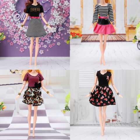 DOLL OUTFIT BEAUTIFUL PARTY CLOTHES DRESS SKIRT FOR DOLL BEST CHILD GIRLS GIF JA