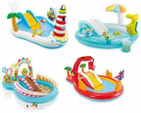PLANSCHBECKEN KINDERPOOL PLAYCENTER POOL F R KINDER RUTSCHE VIEL ZUBEH R INTEX