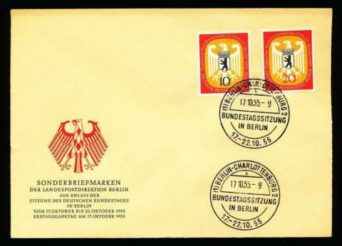 178411 BERLIN FDC NR 129 130 DT BUNDESTAG IN BERLIN