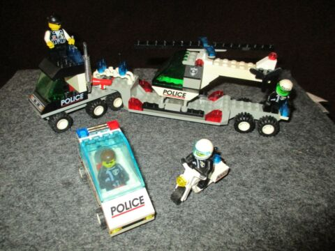 LEGO 6328 6625 POLICE HELICOPTER TRANSPORT SPEED TRACKERS
