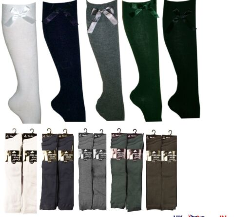 WOMENS LADIES GIRLS KIDS KNEE HIGH UNIFORM PLAIN SCHOOL SOCKS DRESS CASUAL WEAR